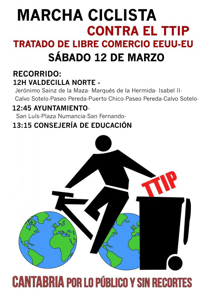 Marcha ciclista No al TTIP IMPRIMIR 12-3-16